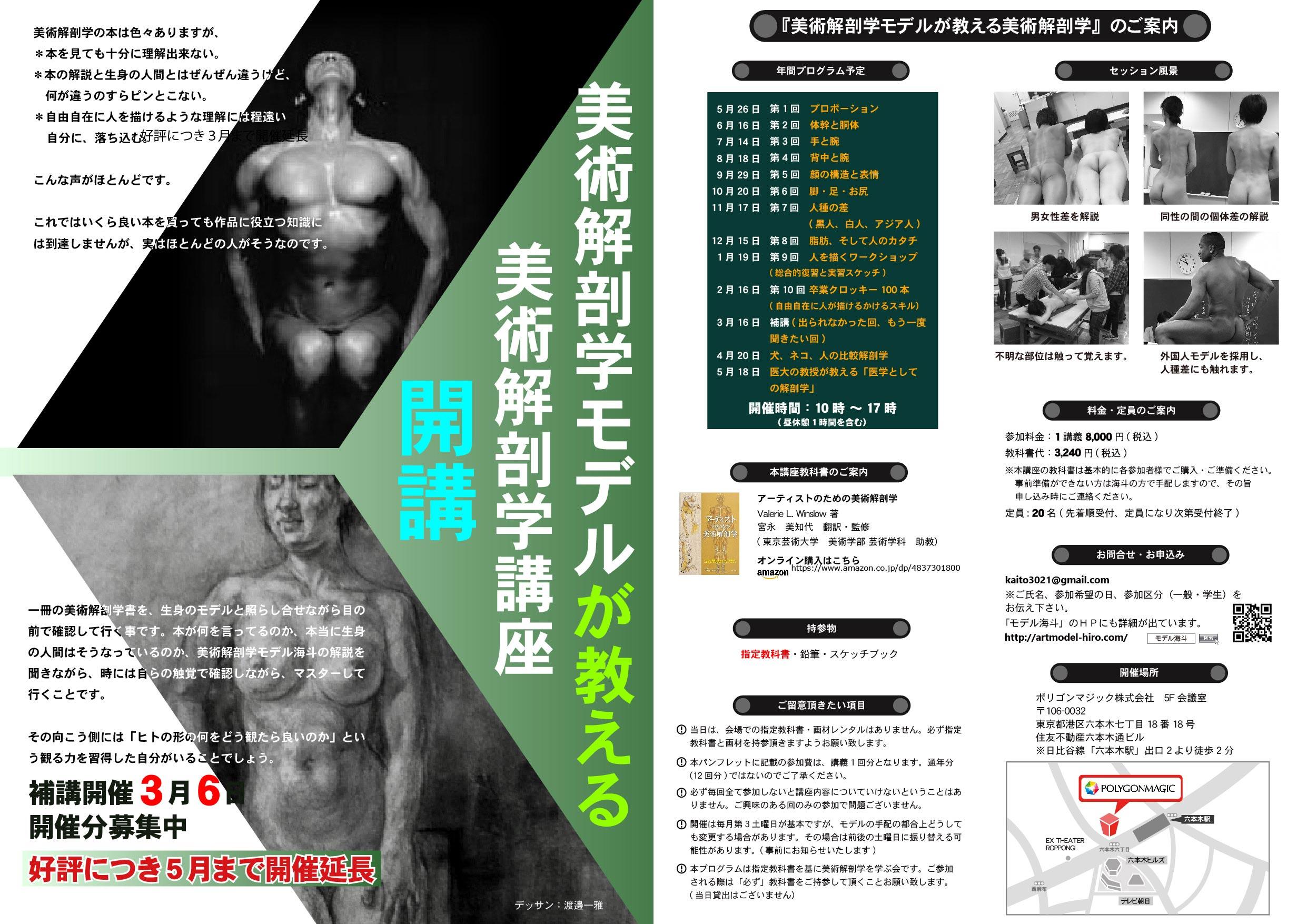 美術解剖学2018シリーズイベント