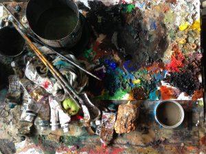 画家のパレット