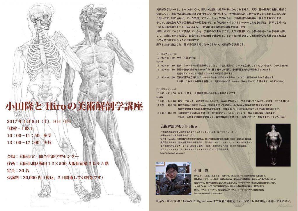 小田隆とHiroの美術解剖学講座