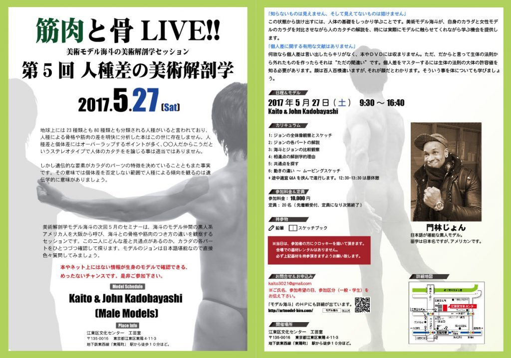 2017筋肉と骨LIVE第5回_人種差の美術解剖学