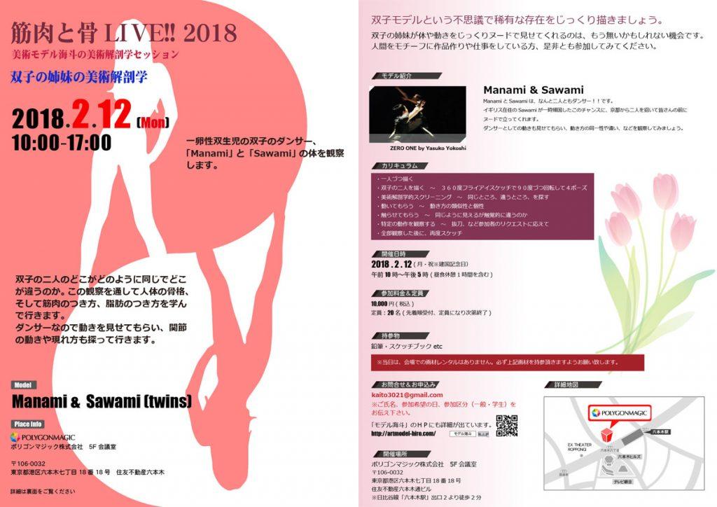 筋肉と骨LIVE2018_双子の姉妹の美術解剖学