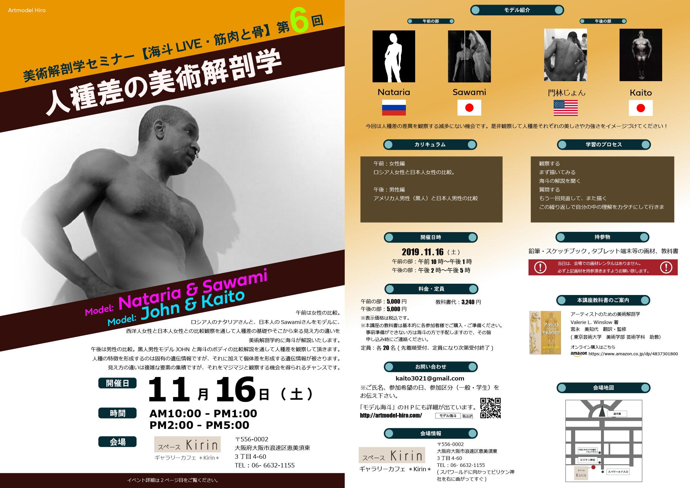 美術解剖学2019大阪第6回