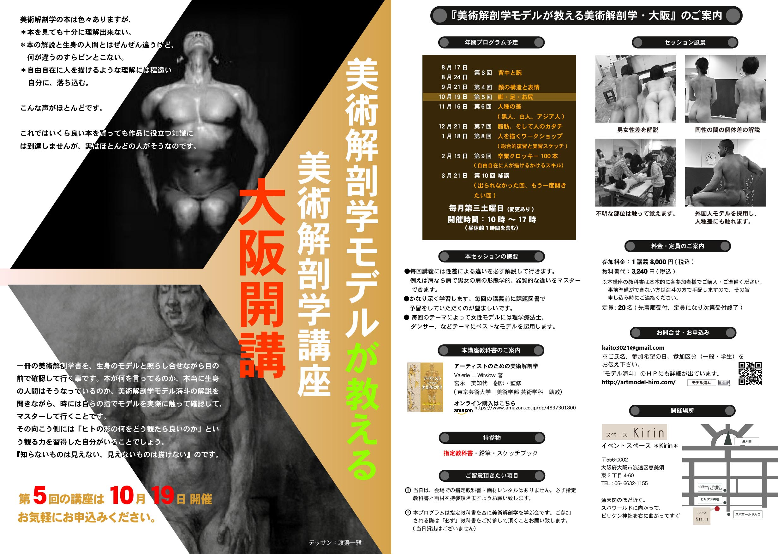 美術解剖学2019シリーズイベント